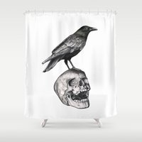 justin timberlake Shower Curtains featuring Together Forever by Puddingshades