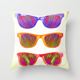 Sunglasses In Paradise Throw Pillow