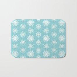 Frosty Snowflakes Bath Mat