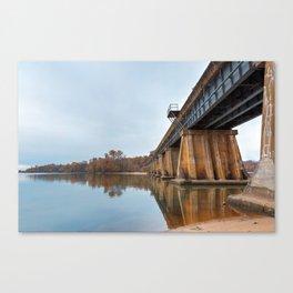 Rustic Leesylvania Bridge Canvas Print