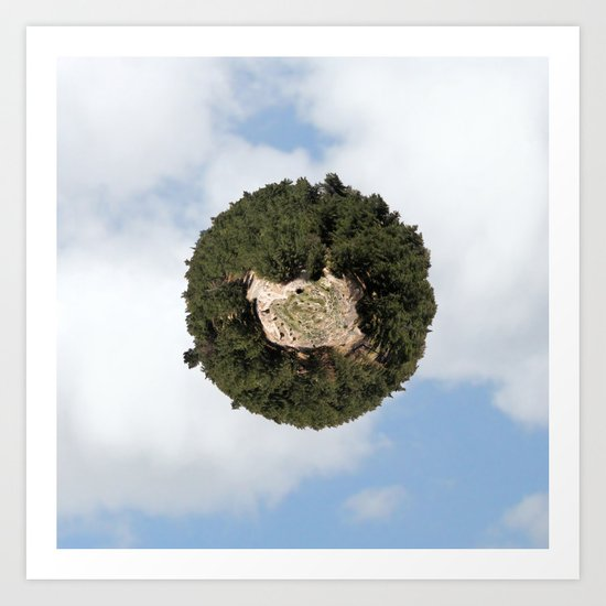 """Worlds in Jerusalem"" - Pine Forest Art Print"