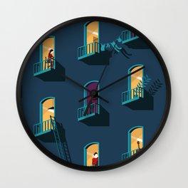 Behind Wall Clock