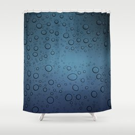 It was Night and the Rain fell Shower Curtain