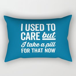 I Used To Care Funny Quote Rectangular Pillow