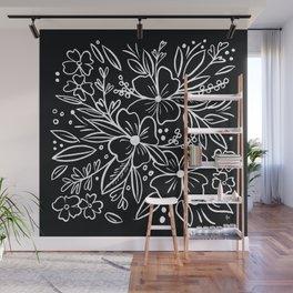 Chalk Florals Wall Mural