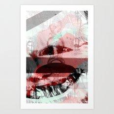 Marbled Art Print