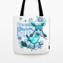 The glacial cold of Glaceon Tote Bag