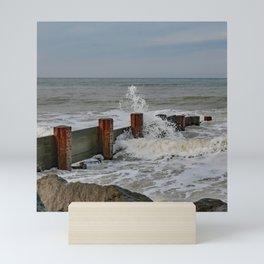 High tide on Cart Gap Beach Mini Art Print