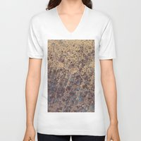 stone V-neck T-shirts featuring Stone by Norms