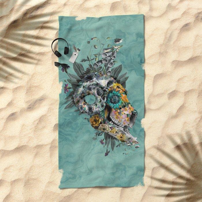 Animal Skull Beach Towel