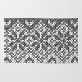 Winter knitted pattern 8 Rug