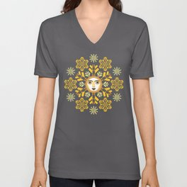 Snow Flake by ©2018 Balbusso Twins Unisex V-Neck