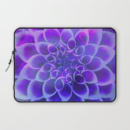 Mindfulness Purple-Pink and Blue Abstract Flower Laptop Sleeve