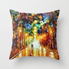 Romantic Starry Night Throw Pillow