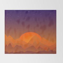 Slumbering Hills, Southwestern Landscape Art Throw Blanket