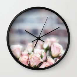 ROSES - PINK - PHOTOGRAPHY - FLOWERS Wall Clock