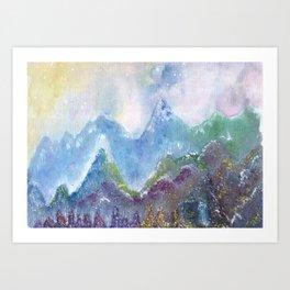 Forest of Light Watercolor Illustration Art Print