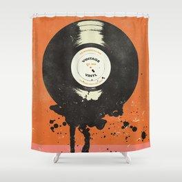 VINTAGE VINYL DRIP Shower Curtain