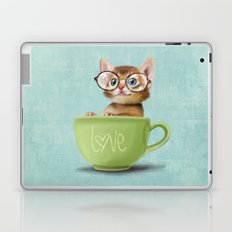 Kitten with glasses Laptop & iPad Skin