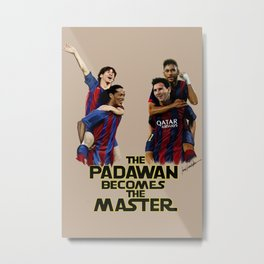 The Padawan Becomes The Master Metal Print