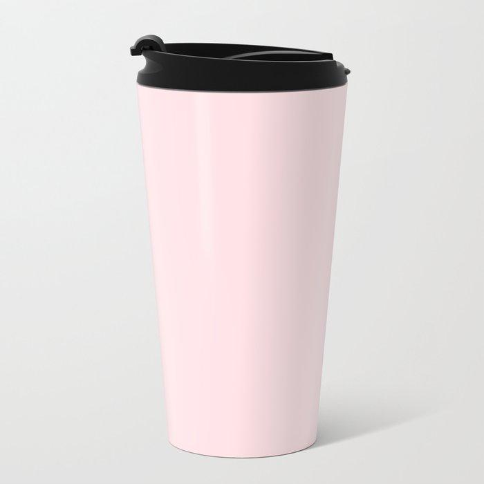Simply Pink Flamingo Metal Travel Mug