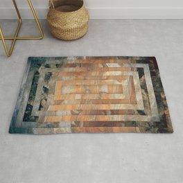 Cave abstraction art Rug