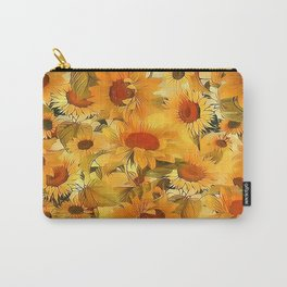 Sunshine Floral Abstract Carry-All Pouch