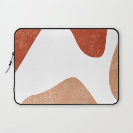 Terracotta Art Print 7 - Terracotta Abstract - Modern, Minimal, Contemporary Print - Burnt Orange Laptop Sleeve