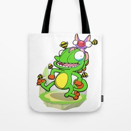 Lizard and Bat! (Bee Armor edition) Tote Bag