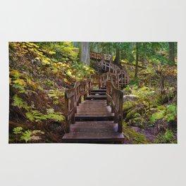 Giant Cedars Boardwalk in Revelstoke National Park, BC Canada Rug