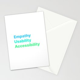 Empathy Usability Accessibility - UX Design Stationery Cards