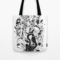 The Great Horse Race! B&W Edition Tote Bag