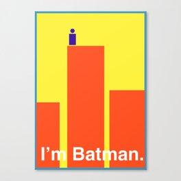 Minimal Superhero Poster Canvas Print