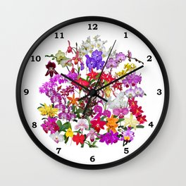 A celebration of orchids Wall Clock