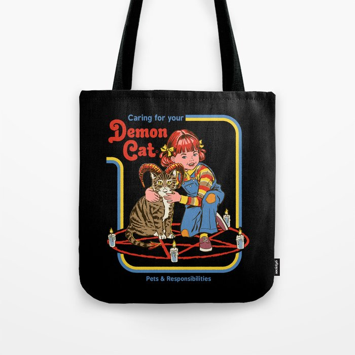 Caring for your Demon Cat Tote Bag