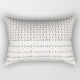 RGB graphic handdrawn pattern Rectangular Pillow