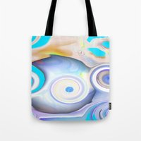 calendars Tote Bags featuring Time by Geni