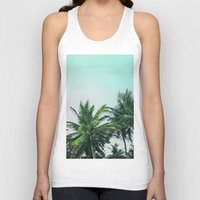 palm trees Tank Tops featuring Palm Trees by Sweet Karalina