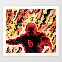 daredevil Art Prints featuring Daredevil by MSG Imaging