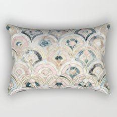 Art Deco Marble Tiles in Soft Pastels Rectangular Pillow
