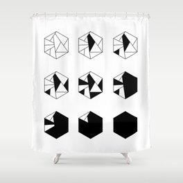HEXAGONE MULTIPLE Shower Curtain