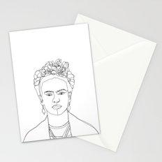 Frida Kahlo portrait illustration Stationery Cards