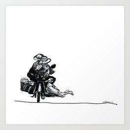 I'll Take My Ducks to Go Art Print