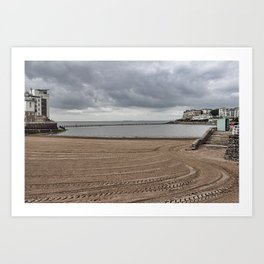 Marine Lake Weston-super-Mare Art Print