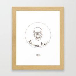 humanities skull Framed Art Print