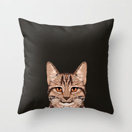 Ripley - Tabby Cat cute cat gifts for cat people and cat lady gift ideas for the cat lover  Throw Pillow