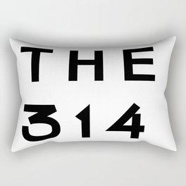314 Missouri Area Code Typography Rectangular Pillow