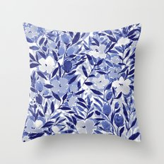 Nonchalant Indigo Throw Pillow