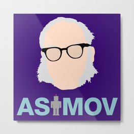 Asimov Minimalist Illustration Metal Print
