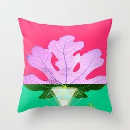 Fig Leaf Diamond Christmas Half and Half Throw Pillow